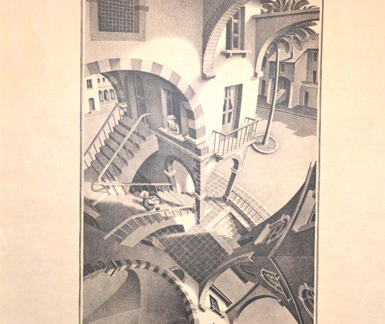 Up And Down - Original Lithograph by M.C. Escher - 1974 - Modern Print by M.C. (Maurits Cornelius) Escher