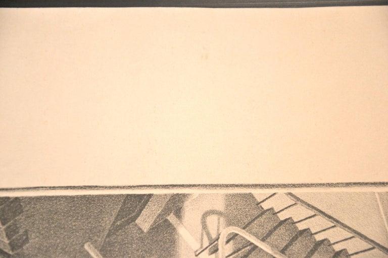 Up And Down - Original Lithograph by M.C. Escher - 1974 - Beige Figurative Print by M.C. (Maurits Cornelius) Escher