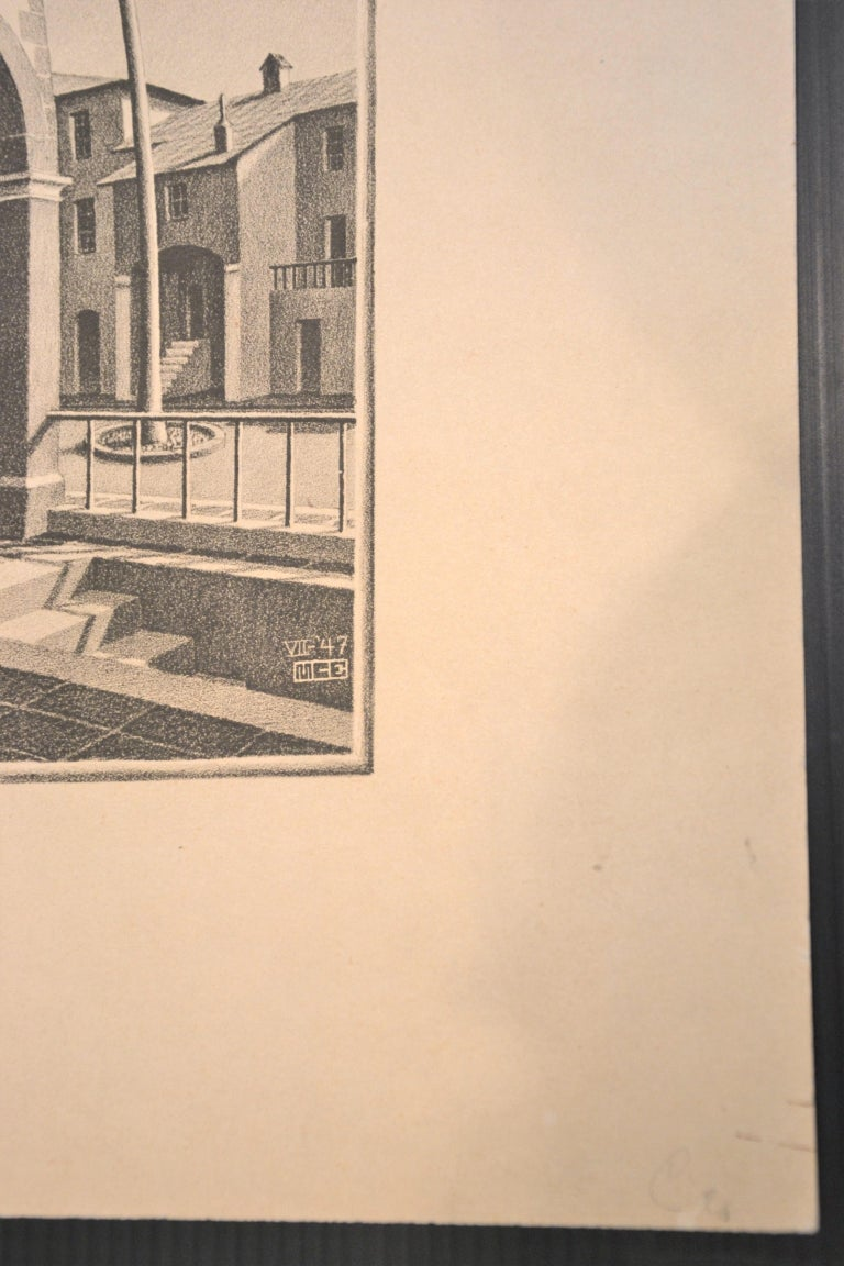 Up And Down - Original Lithograph by M.C. Escher - 1974 For Sale 1