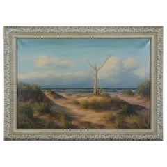 M. Charles Donald Leary Beach Dunes Ocean Landscape Oil Painting on Canvas