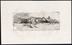 Untitled - Landscape at the edge of a village, [...].