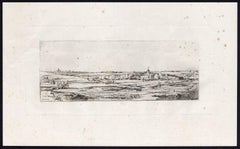 Untitled - This plate shows a landscape with villages and churches.