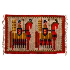 M. Domanska Wall Tapestry, Kilim, Hand Woven Rug, 1960s