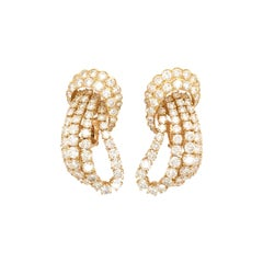 M. Gerard Gold and Diamond Earrings