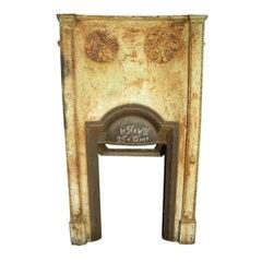 M H Baillie Scott, Style of. A Tall Arts & Crafts Cast Iron Decorative Fireplace