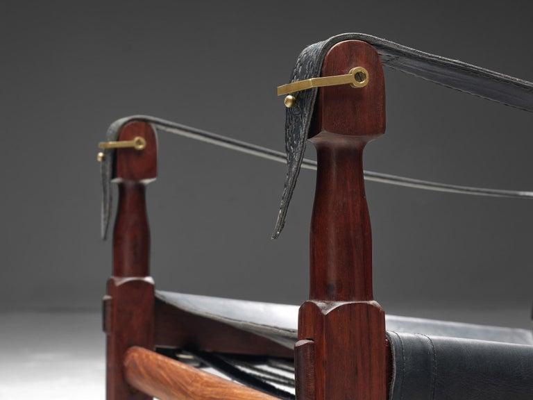 Brass M. Hayat & Brothers Pakistani Safari Chair For Sale