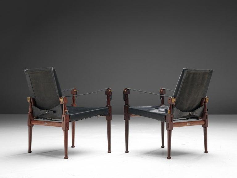 Mid-Century Modern M. Hayat & Brothers Pakistani Safari Chairs For Sale