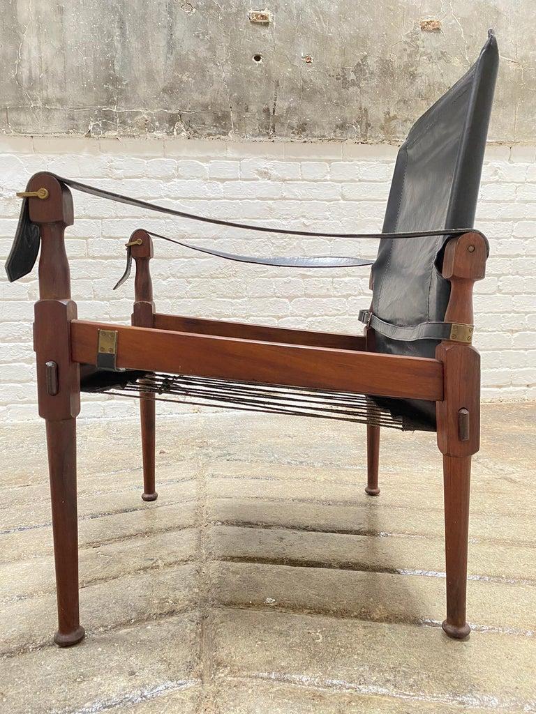 Late 20th Century M. Hayat & Brothers Pakistani Safari Chairs For Sale