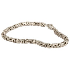 M. Hisae Chunky Sterling Silver Modernist Bracelet