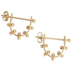 M. Hisae Ear Hugger Gold Hoop Earrings