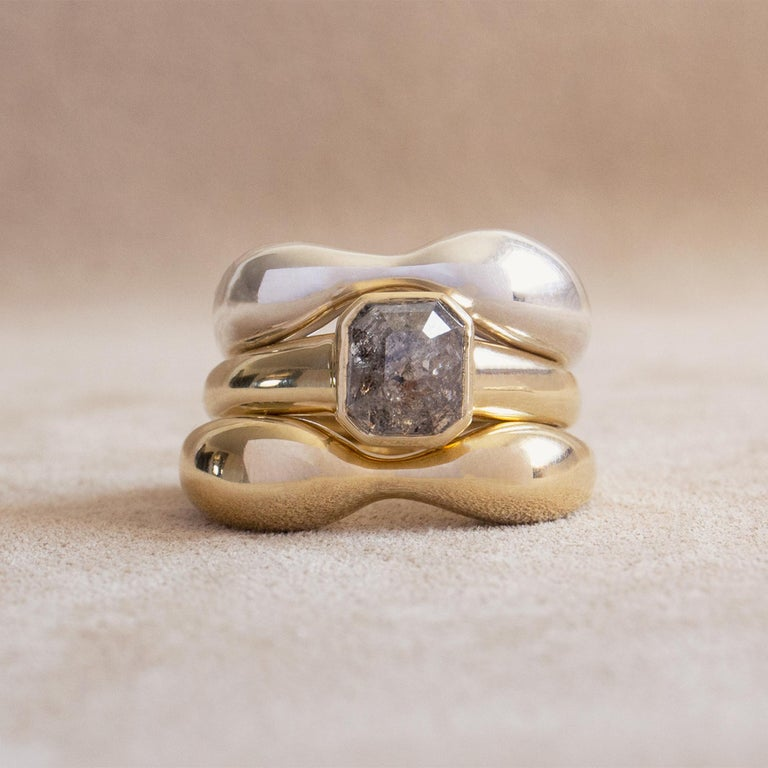 Contemporary M. Hisae 1.43ct Brown Rosecut Diamond Cocktail Ring For Sale