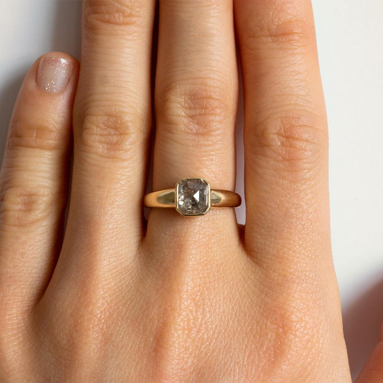 M. Hisae 1.43ct Brown Rosecut Diamond Cocktail Ring In New Condition For Sale In Woodbury, CT
