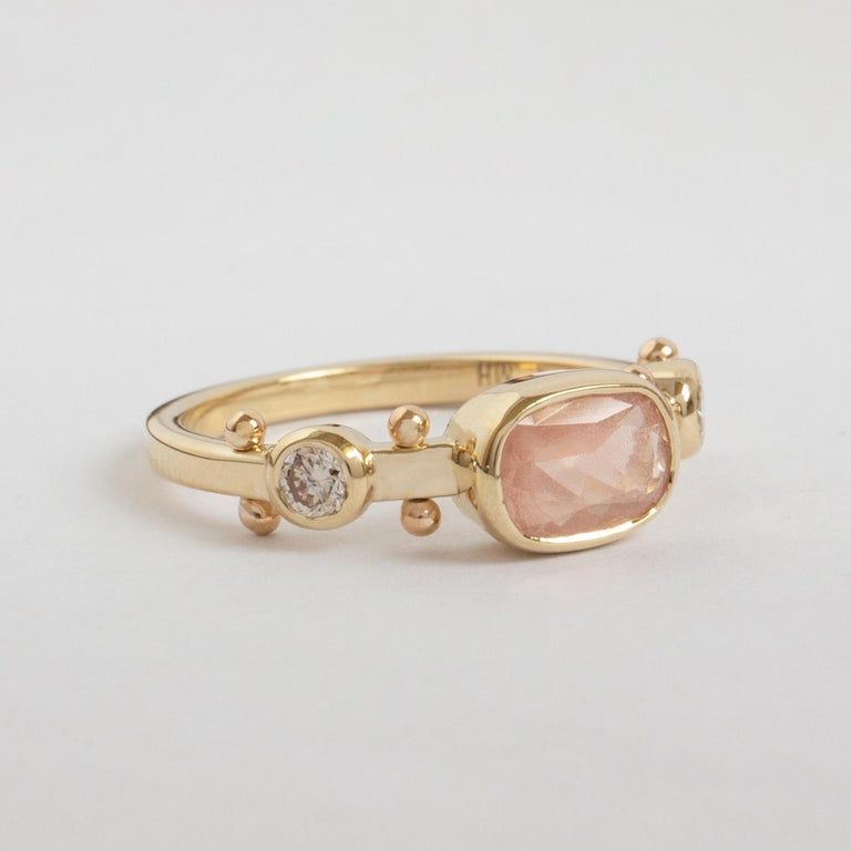 Light Pink Oregon Sunstone (natural, copper-bearing labradorite feldspar) is a sight to be seen and will uplift you immediately. Kaori, meaning fragrance in Japanese. A patchwork of sensory elements, creating a liveliness easier felt than described.