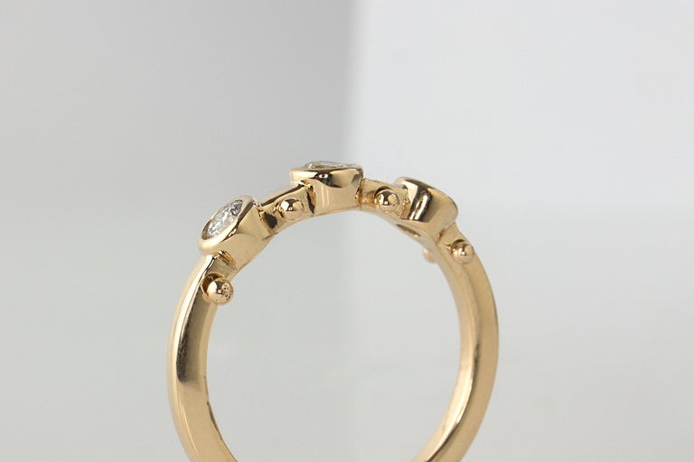 M. Hisae White Diamond Trinity Wedding Band In New Condition For Sale In Woodbury, CT