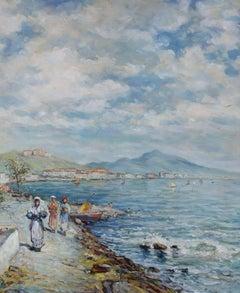 M. Humbles - 20th Century Oil, Coastal Promenade