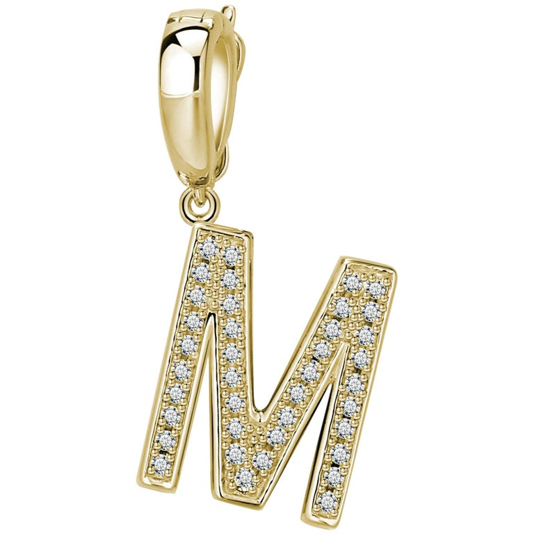 M Initial Pendant or Charm For Sale