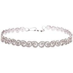 M. Khatau 18 Karat White Gold and Diamond Thea Choker Necklace