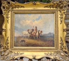 The Horse Drover, 19th Century Austrian School, Oil on Canvas