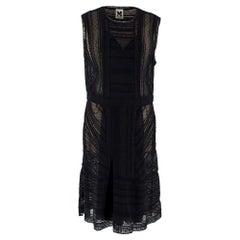 M Missoni Black Sleeveless Sheer Knit Dress IT 46