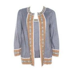M Missoni Grey Knit Cardigan and Sleeveless Top Set M