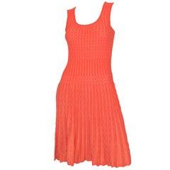 M Missoni Metallic Knit Fit and Flare Dress