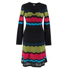 M Missoni Multicolor Knit A-line Dress Size IT 38 / US 0-2