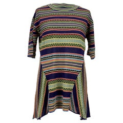 M Missoni Multicolor Light Weight Knit Top Size 44 IT