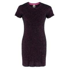 M Missoni Pink Tinsel-effect Knit Mini Dress - Size US 4