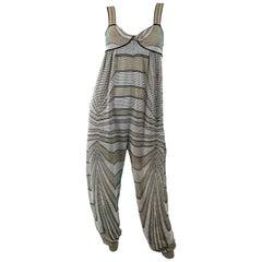 M Missoni Womens Sleeveless Lurex Knit Jumpsuit