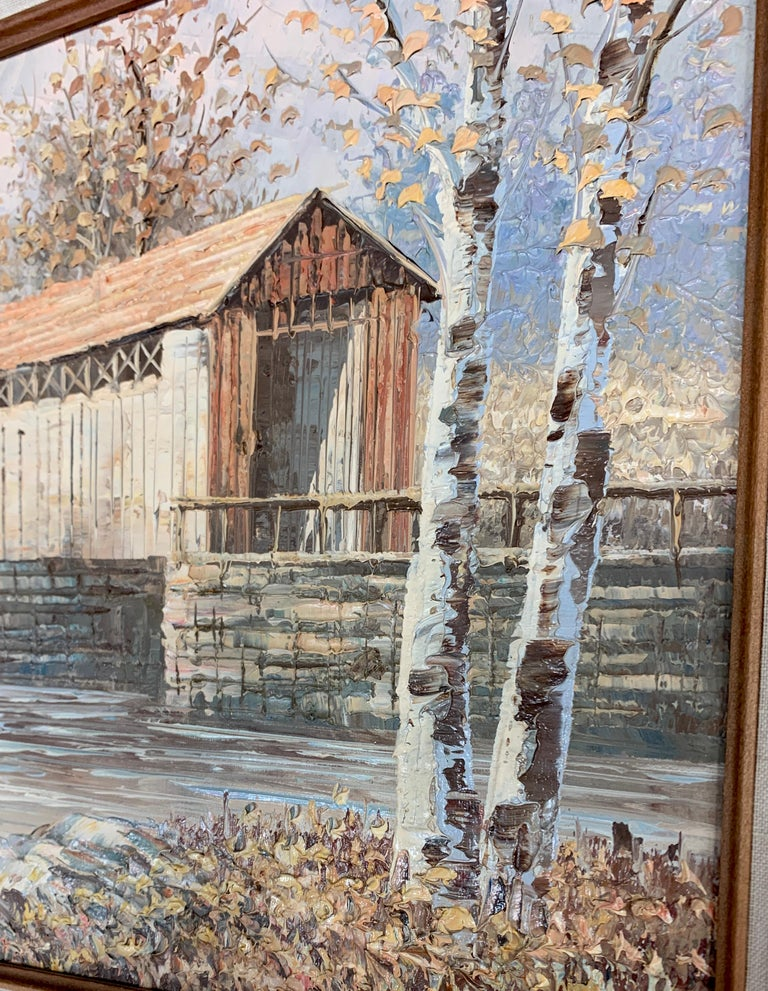 Textured Barn Landscape by Mitchell with COA from 1990 1