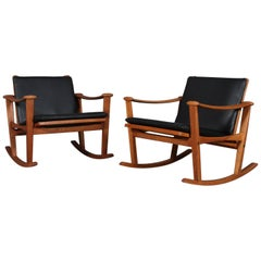 M. Nissen Pair of Rocking Chairs