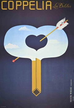 Wielki Theatre-Manifesto - Original Offset Print by M. Urbaniec - 1975