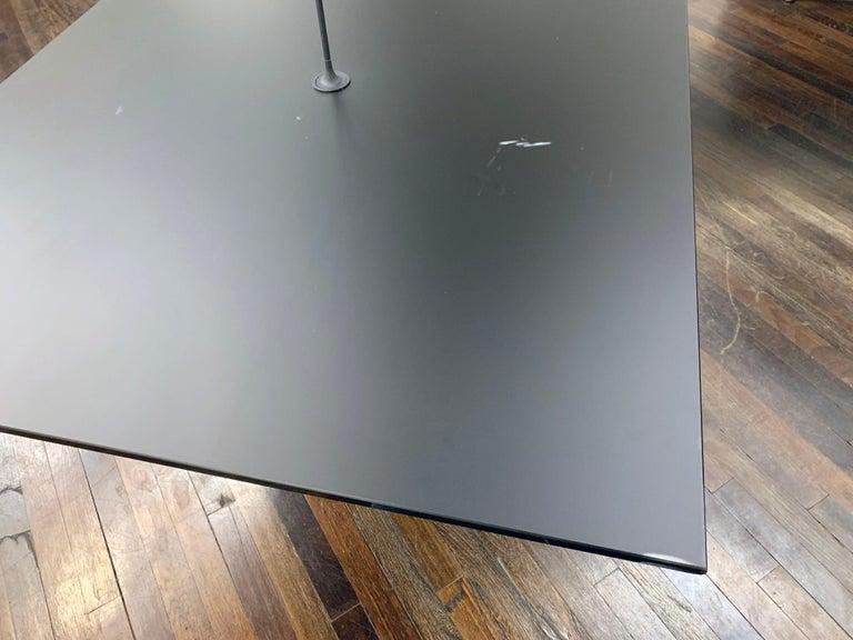 M2L Brand Black Satin Glass Top and Lacquer Desk For Sale 4