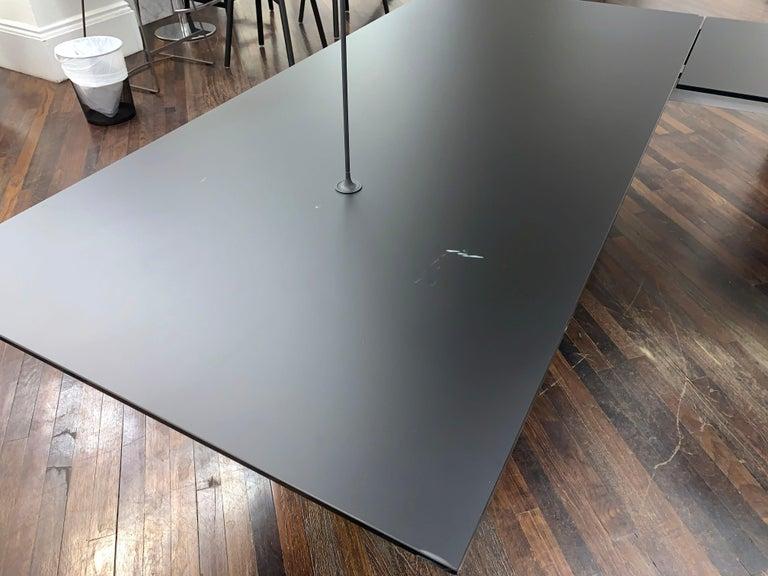 M2L Brand Black Satin Glass Top and Lacquer Desk For Sale 5