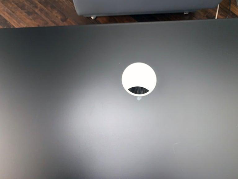 M2L Brand Black Satin Glass Top and Lacquer Desk For Sale 8