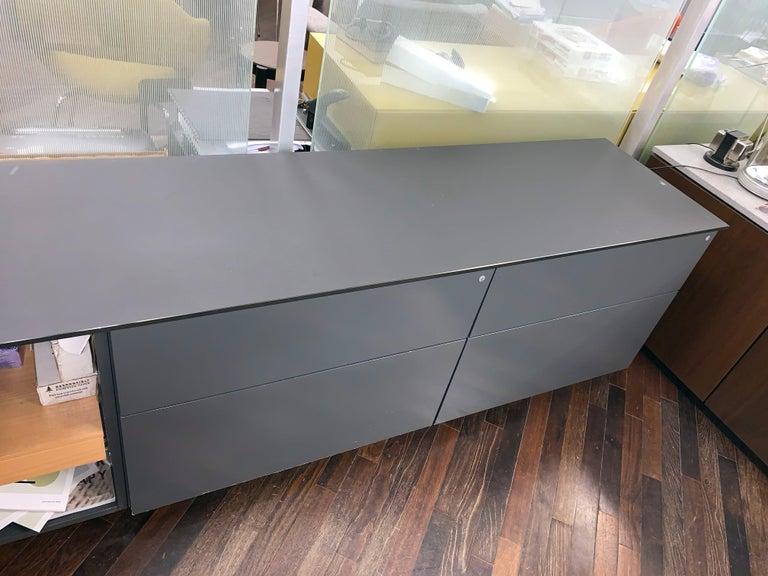 M2L Brand Black Satin Glass Top and Lacquer Desk For Sale 9