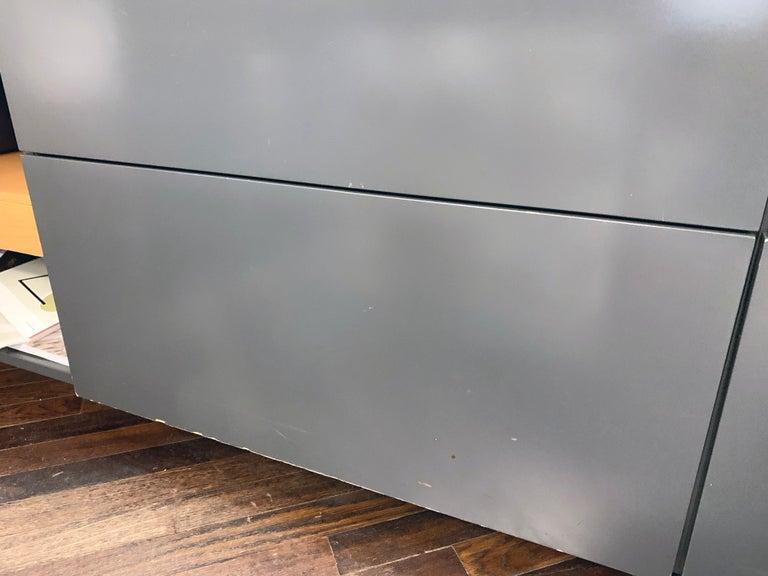 M2L Brand Black Satin Glass Top and Lacquer Desk For Sale 11