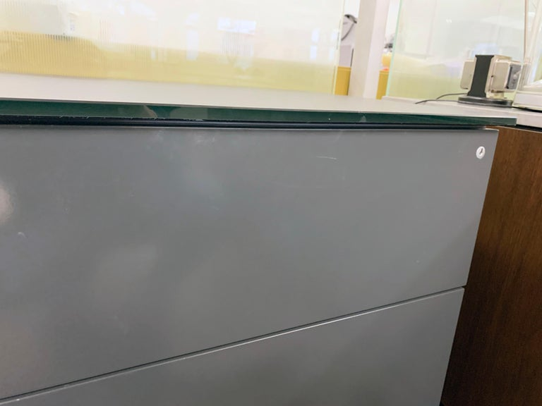 M2L Brand Black Satin Glass Top and Lacquer Desk For Sale 13