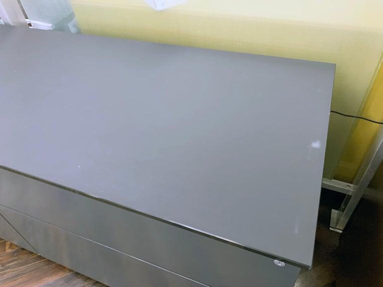 M2L Brand Black Satin Glass Top and Lacquer Desk For Sale 14