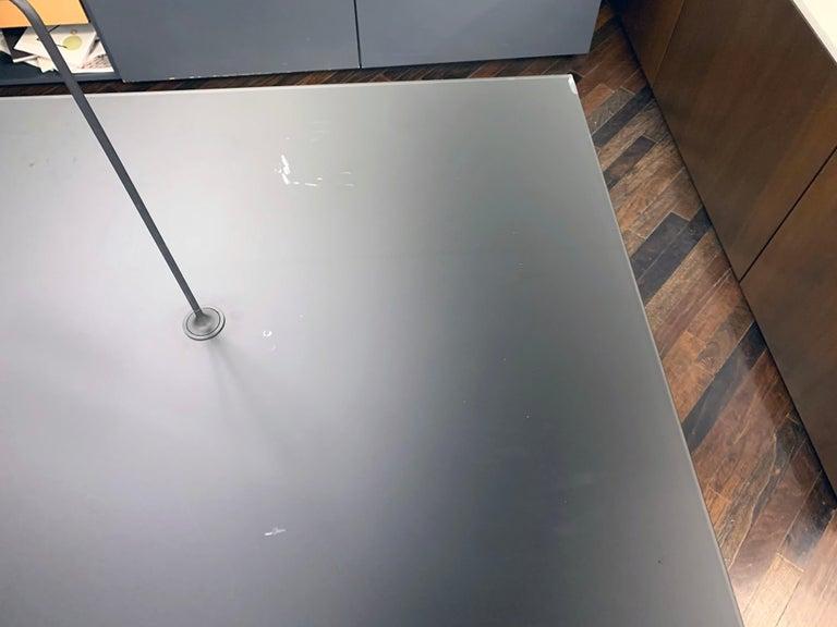M2L Brand Black Satin Glass Top and Lacquer Desk For Sale 1