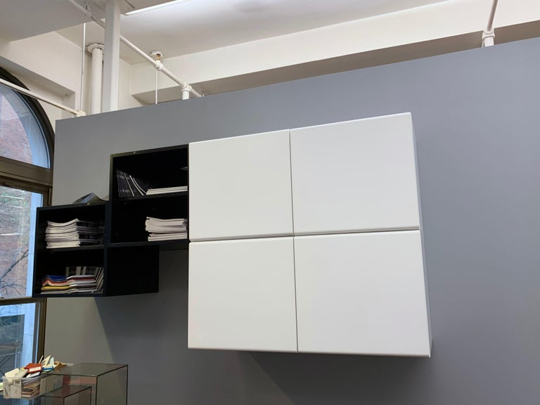 Wood M2L Brand White Wall Mount Media Console For Sale