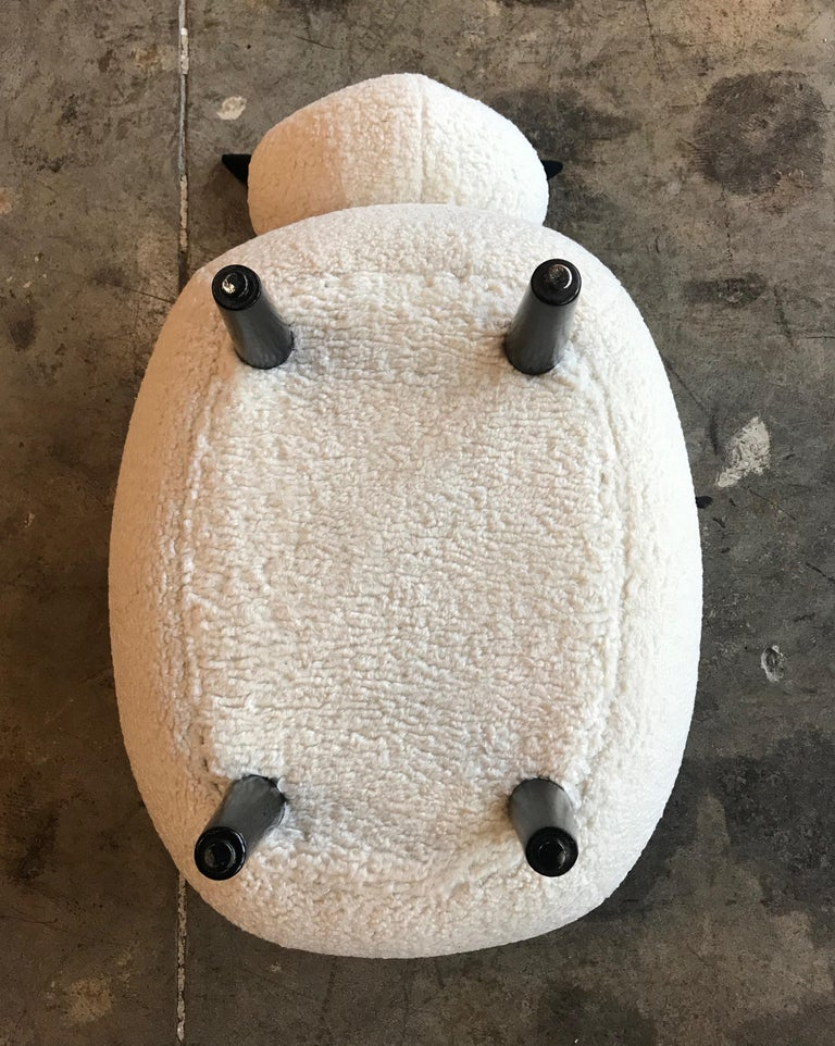 Ma39 Pouf in Carved Wood Sheep, Italy, 21st Century For Sale 2