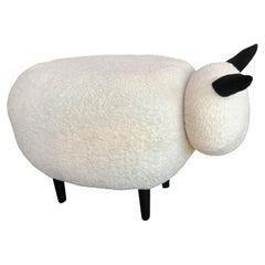 Ma39 Pouf in Carved Wood Sheep, Italy, 21st Century