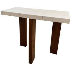Ma39 Solid Walnut Side Tables / Console with Parchment Base, 21st Century