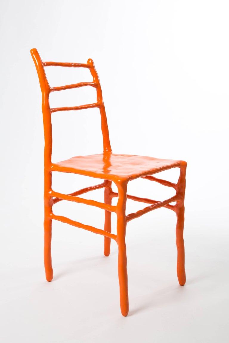 Maarten Baas Clay Chair Limited Edition Basel Chair 2007 Orange For Sale 5