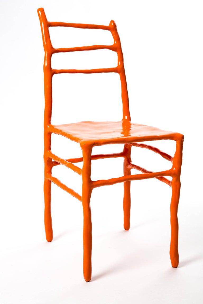 Maarten Baas Clay Chair Limited Edition Basel Chair 2007 Orange For Sale 6