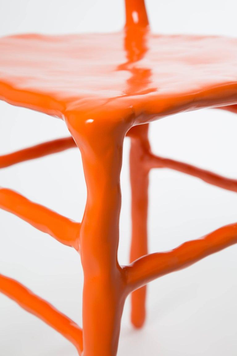 Post-Modern Maarten Baas Clay Chair Limited Edition Basel Chair 2007 Orange For Sale