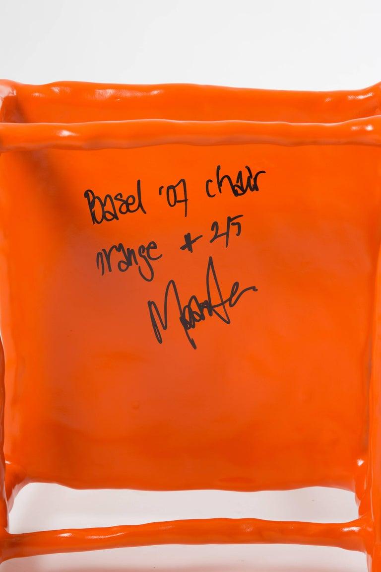 Dutch Maarten Baas Clay Chair Limited Edition Basel Chair 2007 Orange For Sale