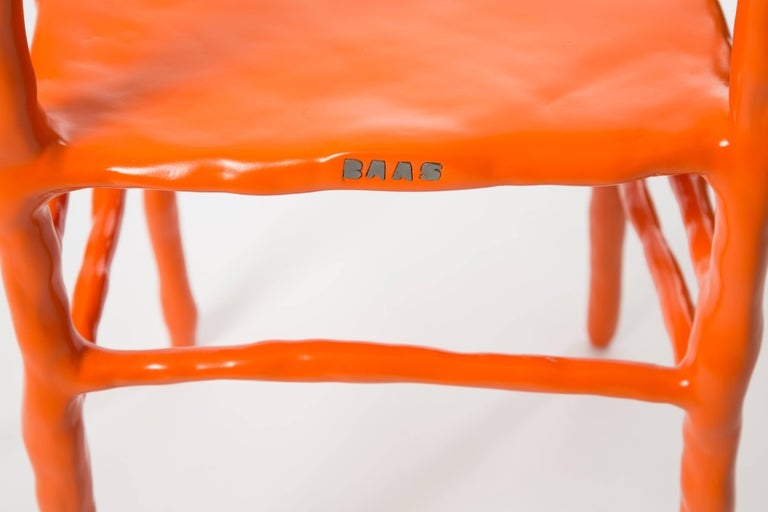 Maarten Baas Clay Chair Limited Edition Basel Chair 2007 Orange In Excellent Condition For Sale In LA Arnhem, NL
