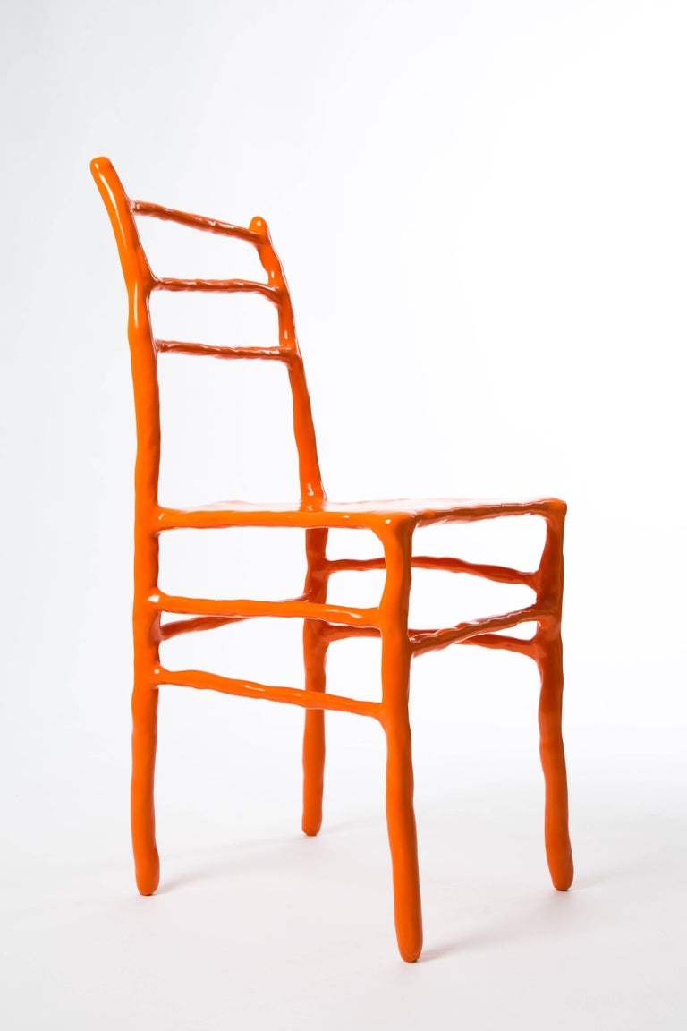 Contemporary Maarten Baas Clay Chair Limited Edition Basel Chair 2007 Orange For Sale
